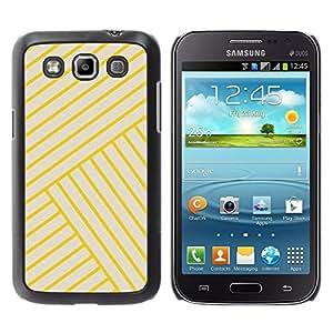 FECELL CITY // Duro Aluminio Pegatina PC Caso decorativo Funda Carcasa de Protección para Samsung Galaxy Win I8550 I8552 Grand Quattro // Stripes Lines Yellow Angle Tile