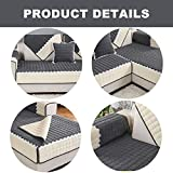 OstepDecor Couch Cover, Sofa Cover, Quilted