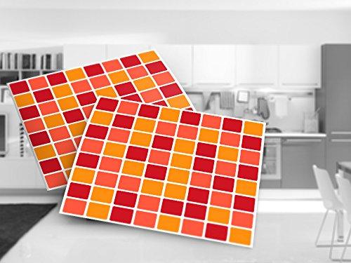 Decorazione da parete mosaico terracotta piastrelle adesivi per