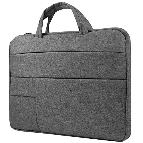 Briefcase Laptop Bag Sleeve for HP ChromeBook, Stream, ProBook, Mobile Thin Client, Essential, Elitebook, Zbook, Pavilion 14 inch, Gaming Business Work School Men Women to 14.1 inch Laptops, Grey (Hp Photosmart 1115 Printer Driver Windows 7)