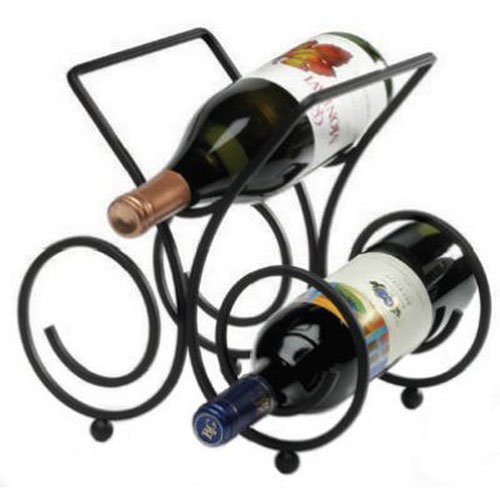 Spectrum Diversified Bordeaux Wine Rack, 3-Bottle, Black