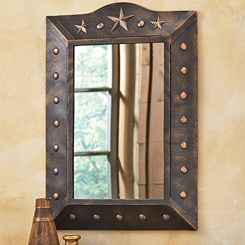 Metal Western Star Mirror Rustic Decor Western Home