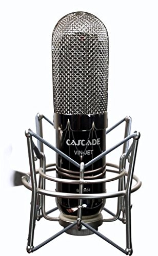 Cascade Microphones VIN-JET - Black/Nickel Ribbon Microphone, Black Body/Polished Nickel Grill