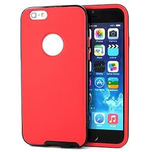 For Apple iPhone 6 (4.7-inch) Red TPU+Black Bumper