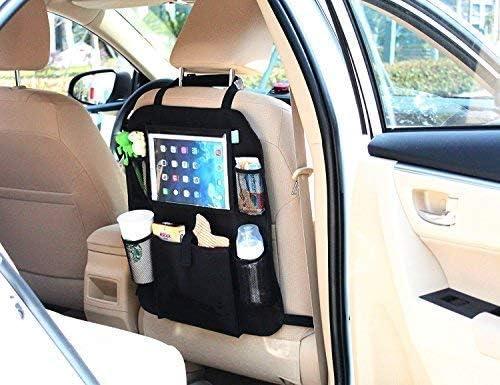 l/'enfant ne le salit pas en y essuyant ses chaus Kid Transit Organisateur dossier si/ège voiture sac de rangement pour enfants avec pochette transparente pour iPad//autres tablettes 9,7 pouces prot/ège aussi le si/ège auto