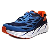 HOKA ONE ONE Mens Clifton 3 Blue/Red Orange Running Shoe - 10.5 M