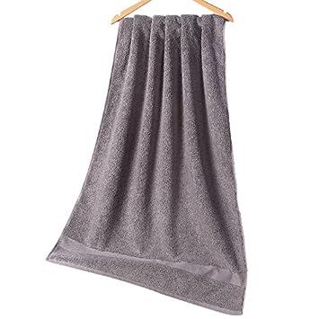 El hotel una toalla de baño para hombres y mujeres adultos de toallas de baño de algodón suave y absorbente, nueva gris elegante: Amazon.es: Hogar