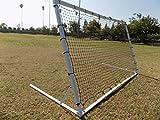 PASS 8 x 5 Ft. Industrial Steel Frame Training Rebounder. Portable Soccer, Baseball, Softball, Basketball, Lacrosse Practice Aid.