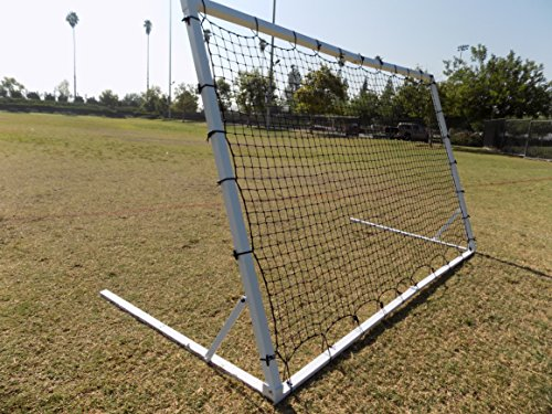 PASS 8 x 5 Ft. Industrial Steel Frame Training Rebounder. Portable Soccer, Baseball, Softball, Basketball, Lacrosse Practice Aid. by Pass