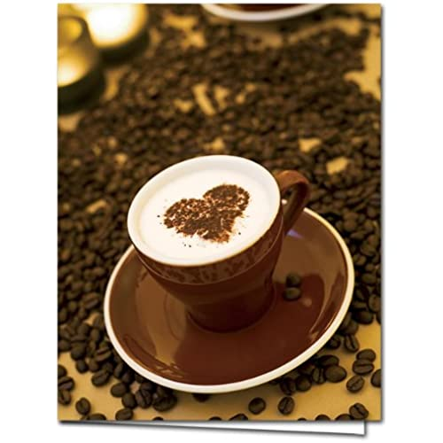 Cappuccino Crush - 36 Blank Note Cards - Blank Cards - Red Envelopes Included Sales