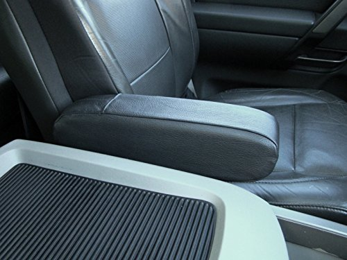 Black Leather-Silver Thread RedlineGoods seat armrest Covers Compatible with Nissan Armada 2004-15
