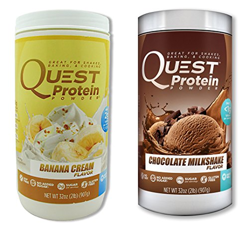 Quest Nutrition Quest Protein amZXxq Powder, Banana Cream/Chocolate Milkshake 2lb Tub (1 of Each) by Quest Nutrition