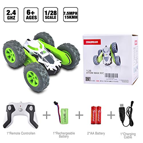 Remote Control Cars   RC Car Toys 4WD Stunt Car 360° Rotating Toy CRADREAM 2.4GHz Remote Controls 4 7 Years Old Boys…