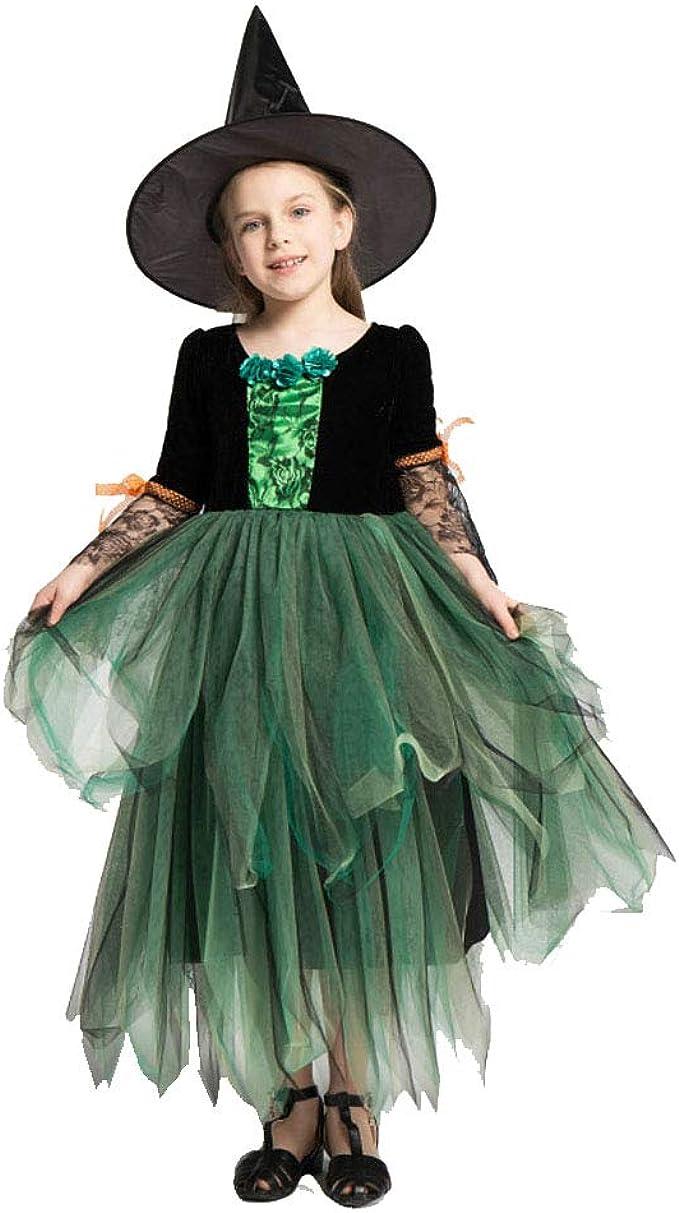 Crystally Traje de la Bruja del niño Disfraz Bruja Niña Halloween ...