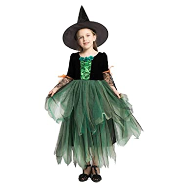 Crystally Traje de la Bruja del niño Disfraz Bruja Niña ...
