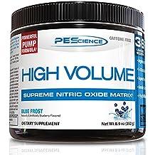PEScience High Volume, Blue Frost, 36 Scoop, Caffeine-Free Preworkout