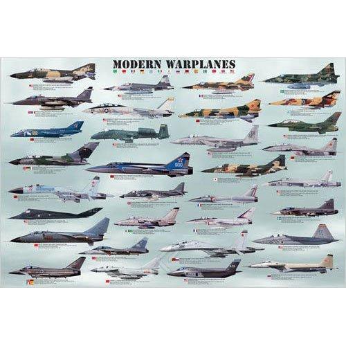 Modern Warplanes Poster  36x24 inches