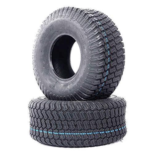 Roadstar Set of 2 Lawn Garden Tires 15x6.00-6 Turf Tires Lawn Mower Tractor Golf Cart Tires 15x6x6 P332 4PR Tubeless