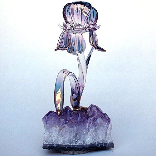 Iris Figurine of Hand Blown Glass