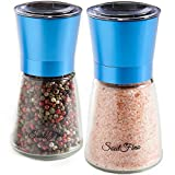 Premium Salt and Pepper Grinder Shaker Set. Anodized Stainless...
