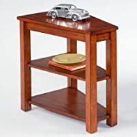Progressive Furniture P300-61 Wedge Wood Chairside End Table