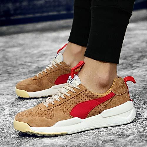 Amarillo Tabla Unisex De Four Brown Zapatillas Usar Cuero Wwjdxz Calzado Casual Tela Zapatos Hombre Puede Seasons f6wt8Aqx