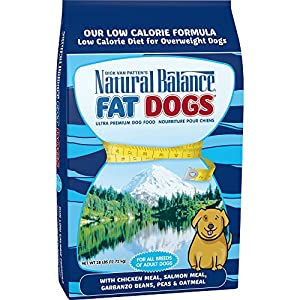 Natural Balance Fat Dogs Chicken Meal, Salmon Meal, Garbanzo Beans, Peas & Oatmeal Dry Dog Food, 28 Pounds 117