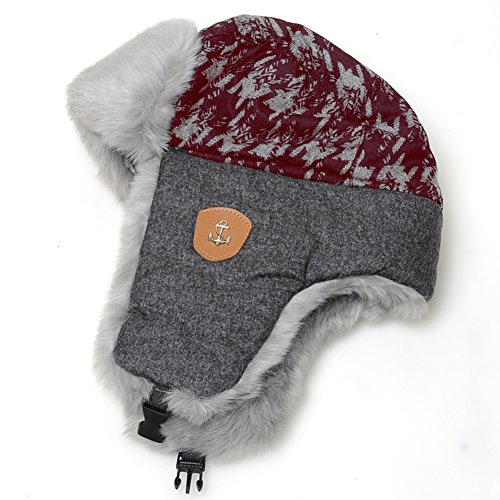 Ear padded ski in winter to keep warm and lovely Lei Feng Cap-A One Size