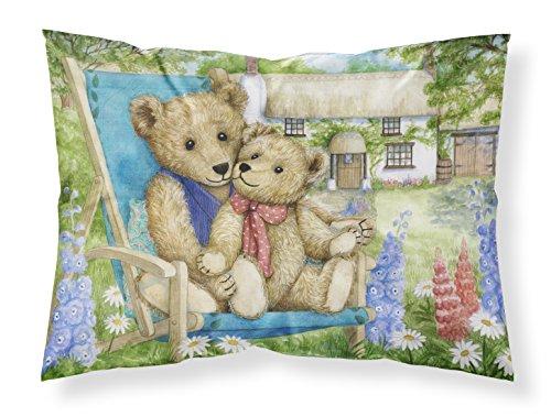 (Caroline's Treasures Springtime Teddy Bears in Flowers Fabric Standard Pillowcase CDCO0306PILLOWCASE, Multicolor)