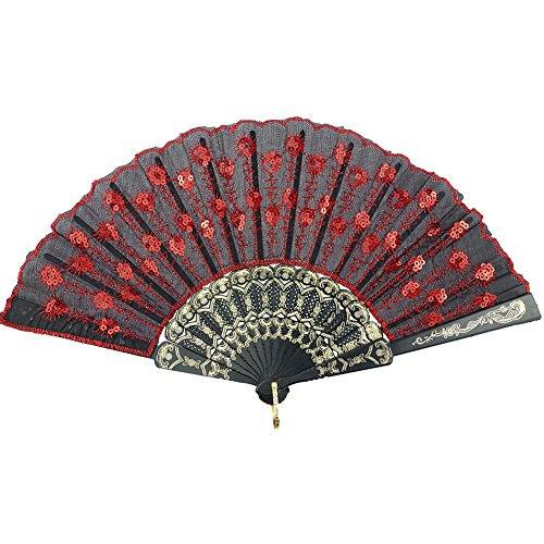hand fan red - 7