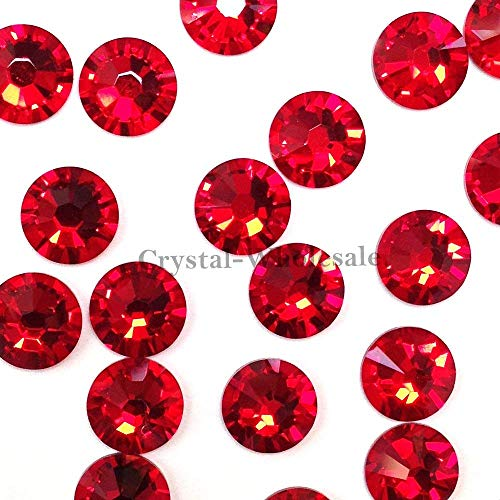 Light Siam Austrian Crystal - Swarovski 2058 Foiled Flatbacks SS7 Light Siam No Hotfix Rhinestones, Choose Quantity (720)