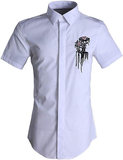 Dfghbn - Camisa casual para hombre, manga corta, estilo ...