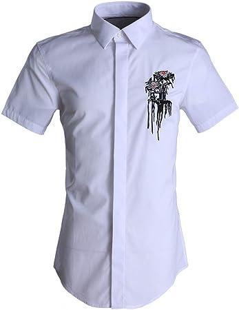 Camisa casual de los hombres Camisa de verano de manga corta para hombre Camisas de trabajo
