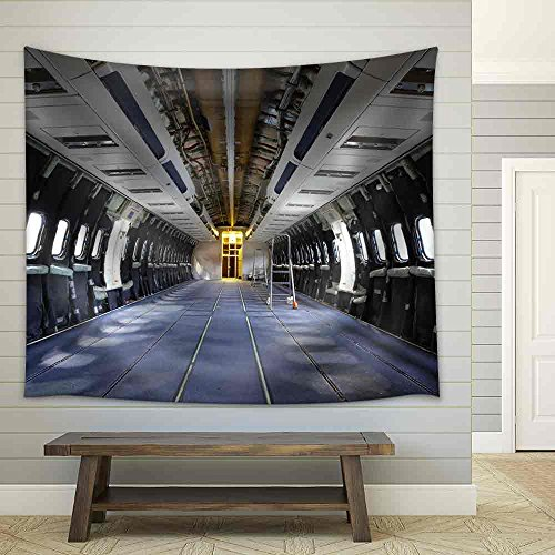 Airplane under Heavy Maintenance Fabric Wall Tapestry
