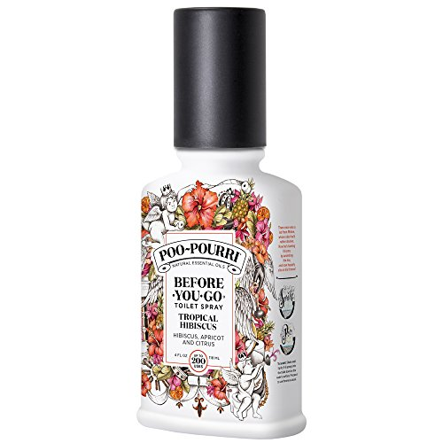 Poo~Pourri Before-You-Go Toilet Spray 4 oz Bottle, Tropical Hibiscus Scent