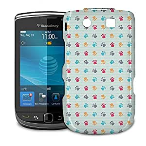 Phone Case For BlackBerry Torch 9800 9810 - Paw Prints Protective Slim