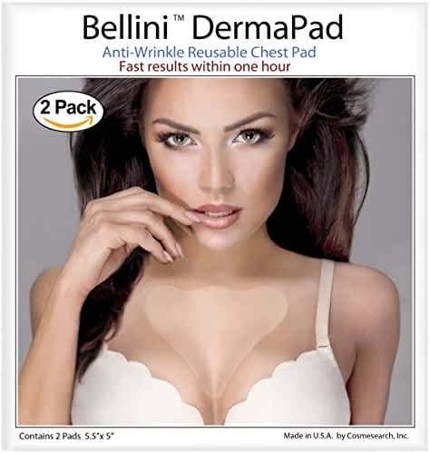 (2 Pad Set) Bellini DermaPad Anti-Wrinkle Decollete Pad For Chest Wrinkles