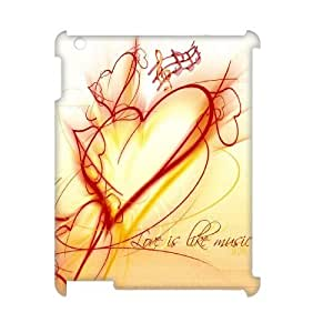 YananC(TM) YnaC387835 Customized 3D Cover Case for Ipad 2,3,4 w/ Love music