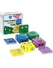 Expressie puzzel Building Cubes, kleurrijke toverkubussen, creatieve gezichtsveranderende dobbelstenen puzzelspel speelgoed voor kinderen