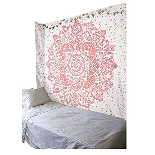 PYHQ Trippy Pink Tapestry Wall Hanging Dorm Room Party Festival Boho Kaleidoscope Decor Birthday Gift Large Size ()