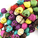 10x12mm multicolor turquoise carved skull beads 16 strand by eBeadsBay