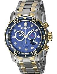 Invicta Mens 0077 Pro Diver Chronograph Blue Dial Watch