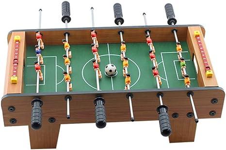 LEEFISH Fútbol De Mesa, De Madera Fútbol De Salón, Familia Divertido Juego Conjunto De Fútbol, Al Aire Libre Juguete Niños para Niños Navidad Cumpleaños Regalo 50 * 25 * 15.5Cm: Amazon.es: Deportes