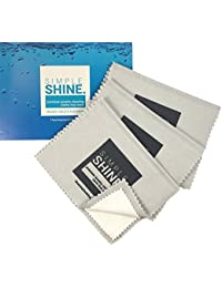 New Set of 3 Premium Jewelry Cleaning Cloths - Best Polishing Cloth Solution for Silver Gold & Platinum