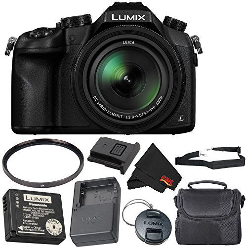 Panasonic Lumix DMC-FZ1000 Digital Camera 4K Point and Shoot Camera, 16X Leica DC Vario-Elmarit Zoom Lens Bronze Level Bundle ()