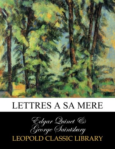 Lettres a sa mere (French Edition) pdf