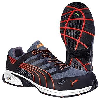 Puma Safety Shoes Fuse Motion Red Men Low S1P, Puma 642540-210 Unisex-Erwachsene Espadrille Halbschuhe, Schwarz (schwarz/rot 210), EU 39 ISM Heinrich Krämer