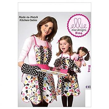 Kwik Sew Mutter/Tochter Schnittmuster 0124 – Schürzen (O/S): Amazon ...