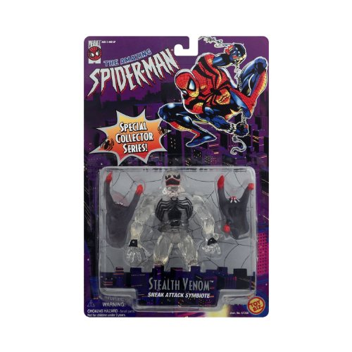 (Stealth Venom Sneak Attack Symbiote Transparent Variant Action Figure from The Amazing Spider-Man Animated Special Collector)