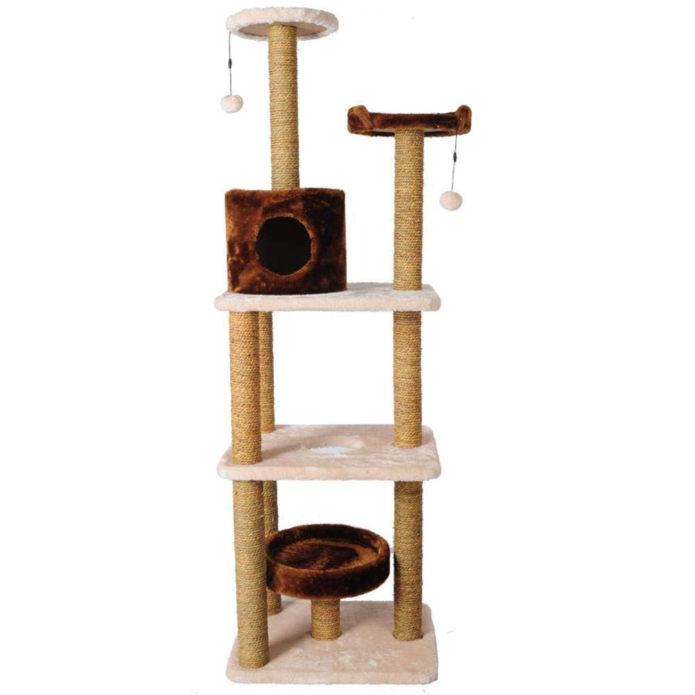 Deluxe Multi Cat Tower Creative Play Towers Trees for Cats Large Seaweed Pillar cat Jumping cat Toy Plush cat Claw Plush Toy 51  41  160cm